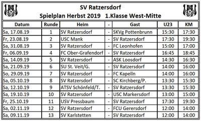 SVR-Spielplan Herbst_2019